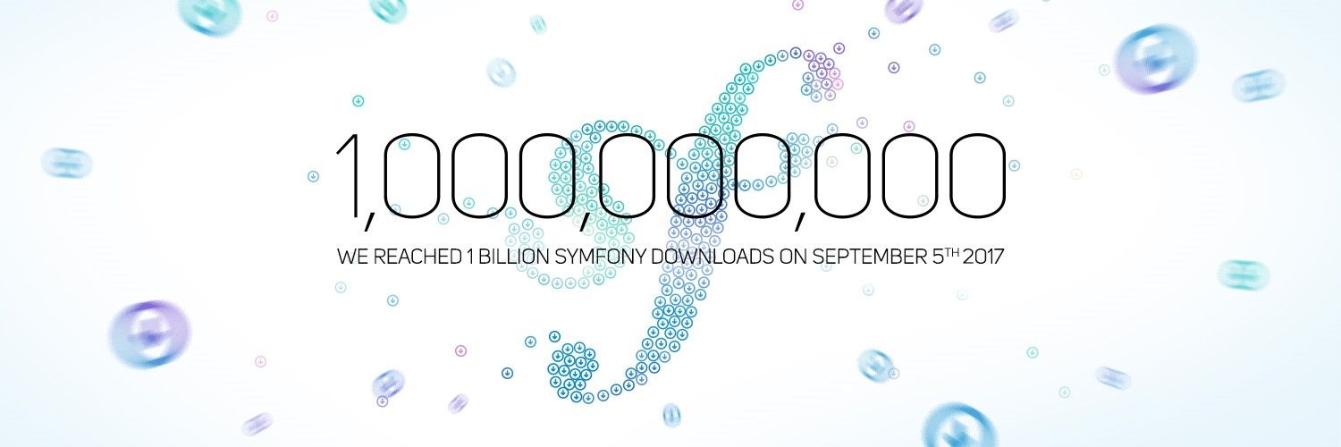 1 billion symfony downloads September 5th