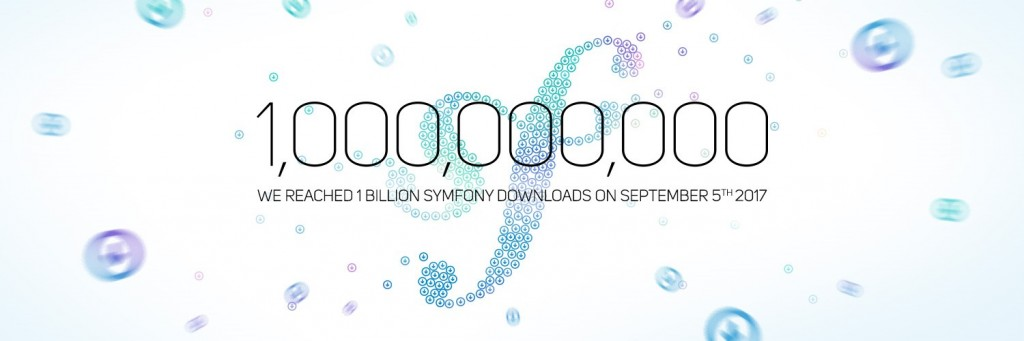 1 Billion Symfony downloads reached on September 5th