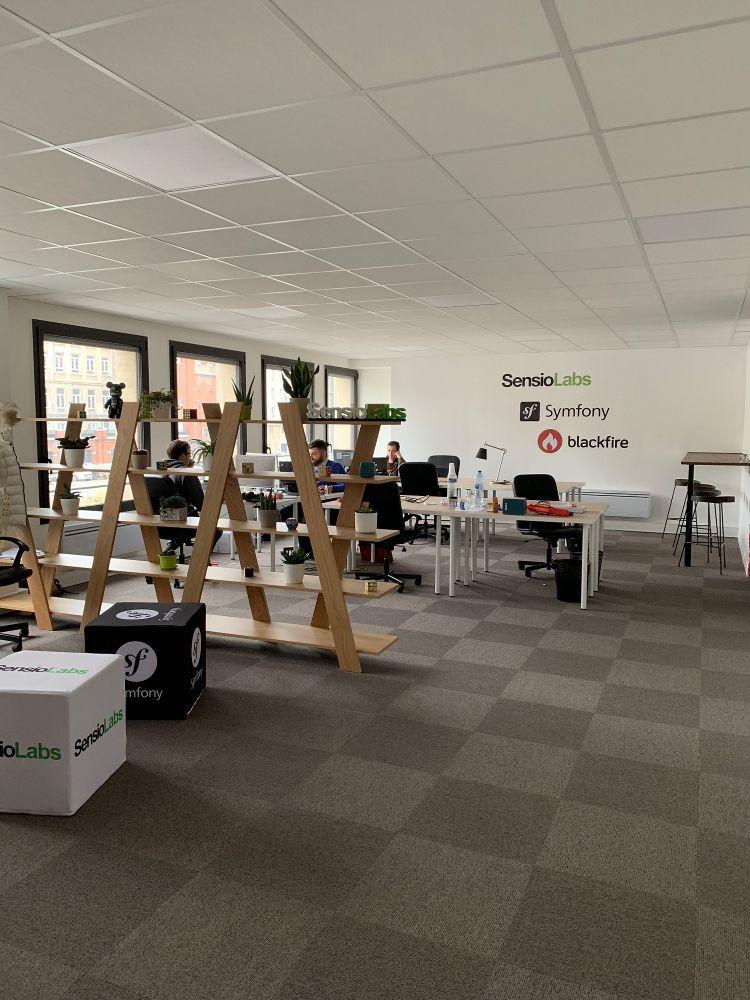 Plateau des développeurs de SensioLabs à Lille