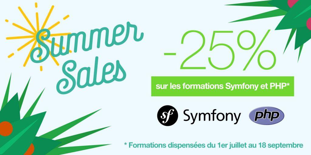 Promotion d'été sur les formations Symfony et PHP