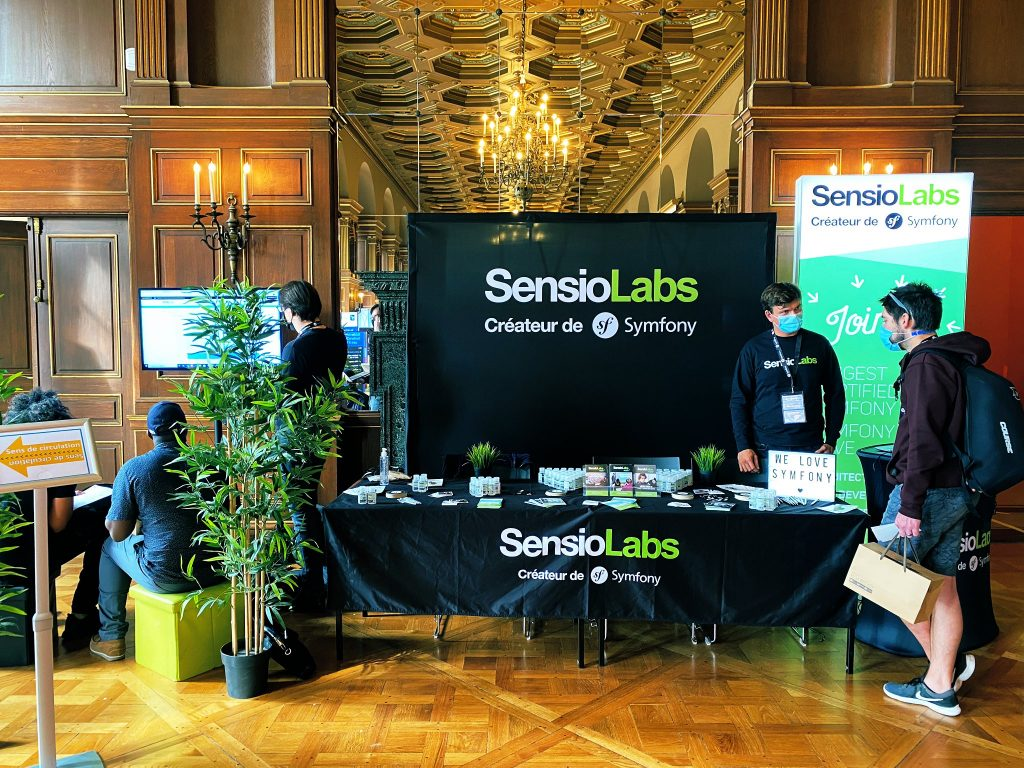 SensioLabs booth at SymfonyLive Paris 2020